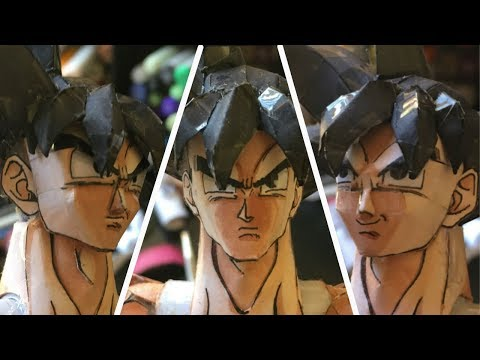 GOKU Face Tutorial - How To Make A Paper Model Ep. 8