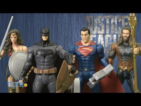 Justice League Batman, Auqaman, Superman & Wonder Woman Figures from Mattel
