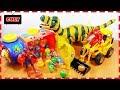 Siêu nhân gao đỏ và người nhện bắt xe chở trứng bất ngờ quậy phá xe chở cát đồ chơi trẻ em thumbnail
