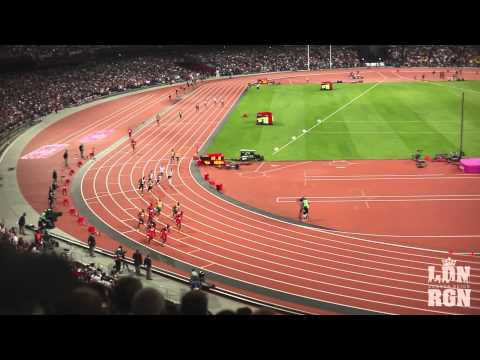 4x100m Relay Final London Olympics 2012 Usain Bolt, Yohan Blake... - New WR 36.84s HD