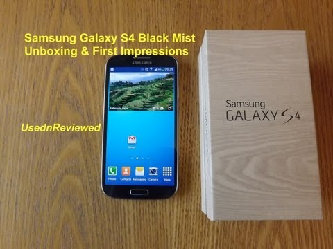 Samsung Galaxy S4 (GT-I9505) Black Mist Unboxing and first impressions