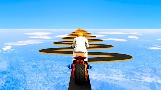 WORLD'S MOST IMPOSSIBLE MOTORBIKE RACE! (GTA 5 Funny Moments)