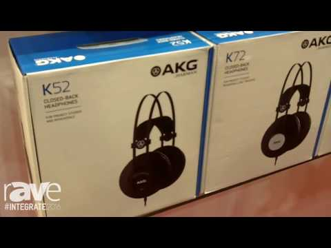 Integrate 2016: AKG by Harman Showcases the K Series of Studio Headphones on the CMI Stand