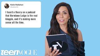 Riverdale's Marisol Nichols Discovers Riverdale Fan Theories   Teen Vogue
