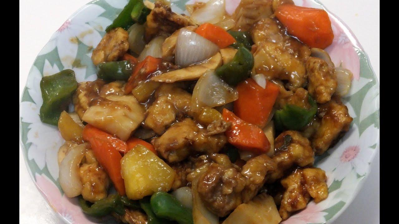 Курица по-китайски в кисло-сладком соусе с ананасами по-китайски рецепт