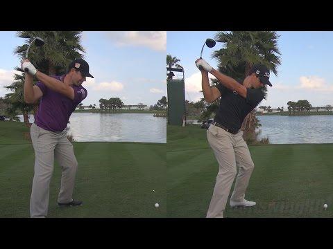 ADAM SCOTT vs PADRAIG HARRINGTON - 2014 SYNCED DRIVER GOLF SWING 1080p HD