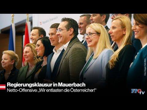 """Regierungsklausur in Mauerbach - Netto-Offensive: """"Wir entlasten die Österreicher!"""""""