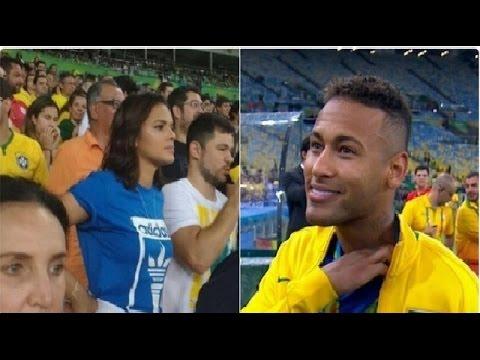 Veja o encontro de Neymar e Bruna Na Final da Olimpíadas 2016