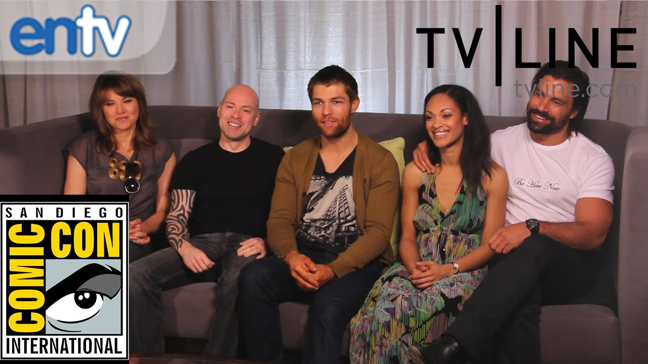 "Liam McIntyre, Lucy Lawless & ""Spartacus"" Cast Dishes ..."