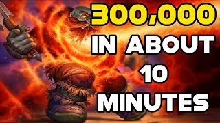 World Of Warcraft Gold Farm 300,000 Gold In About 10 Minutes