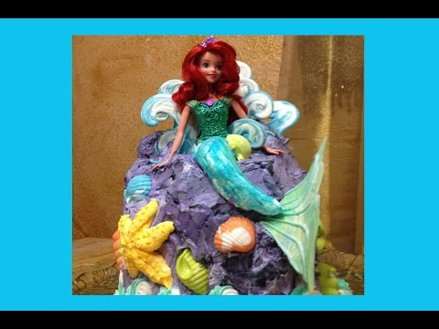 Little Mermaid Barbie Doll Cake- Cake Decorating- How To