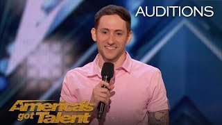 Samuel J. Comroe: Comedian With Tourette Syndrome Impresses Crowd - America's Got Talent 2018