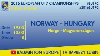 Норвегия до 17 : Венгрия до 17
