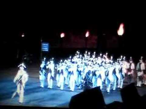 Middlesex County Volunteers (MCV) plays White Cockade, Hawk at Edinburgh Military Tattoo
