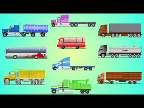Learn Colors With Heavy Vehicles | Learning Video For Kids | Cars And Trucks Cartoons