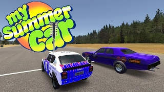 WHO WOULD WIN THE 1/4 MILE? Muscle Car vs The Datsun - My Summer Car Gameplay Highlights Ep 40