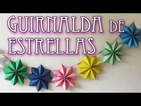 Manualidades para decoracion - Guirnalda de estrellas - Stars Garland