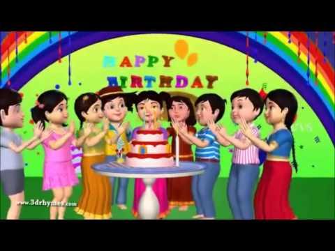 Happy Birthday To You - 3d Animation English Rhyme For Children Wirh Lyrics Kids Songs video