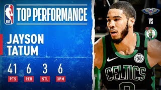 Jayson Tatum Drops CAREER-HIGH 41 PTS & 6 3PM