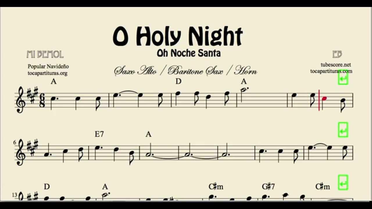 Holy night sheet music for alto saxophone baritone saxophone and
