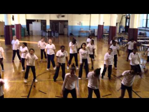 Dancing Eagles St Casimir School - practice