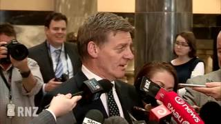 PM Bill English comments on Barclay resignation