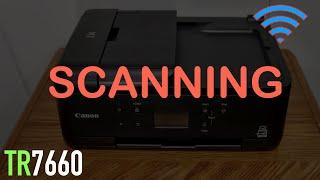 01. Canon Pixma TR7660 Scanning !!