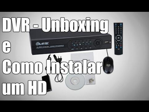 DVR Alartec - Unboxing e Como Instalar um HD