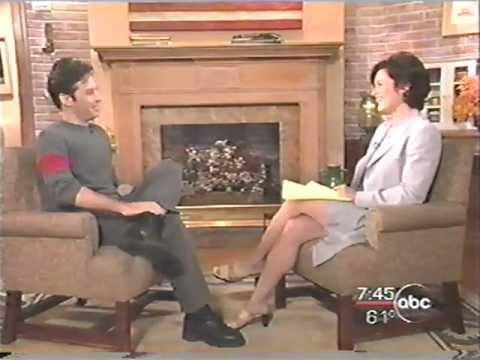 Elizabeth Vargas LEGS LEGS interviewing Jon Stewart, 1999
