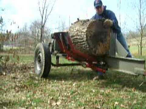 Home-made  log splitter  hydraulic lift