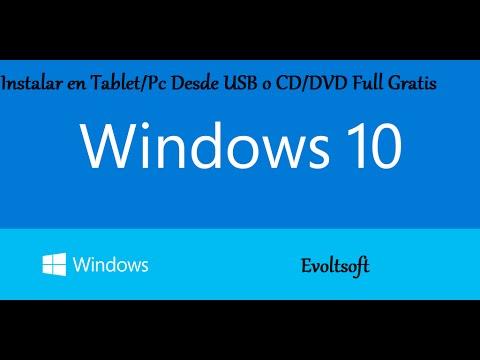 Como Instalar Windows 10 En TABLET/PC Desde La USB o CD/DVD Full (OCTUBRE 2014)