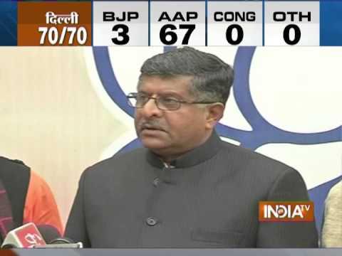 Bharatiya Janata Party accepts defeat with humility: Ravi Shankar Prasad