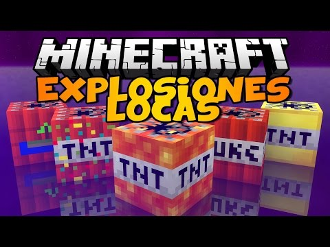 Minecraft: EXPLOSIONES LOCAS!!   THE CRAZY BOMBS Mod Review