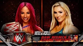 SASHA BANKS VS CHARLOTTE WOMEN'S TITLE MATCH [WWE HELL IN A CELL 2016] [WWE 2K17]