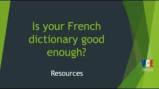 Is your French dictionary good enough?