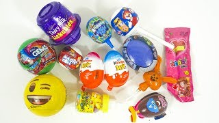 Kinder Joy and other toy candies opening with nursery rhymes for kids,children