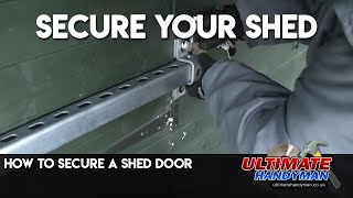 Shed door securing bar