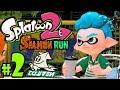 Splatoon 2 - Salmon Run PART 2 - Nintendo Switch Gameplay Walkthrough - New Gear Squiddor Polo Shirt