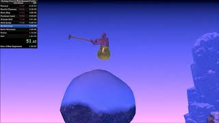 Getting over it speedrun in 1:17.729