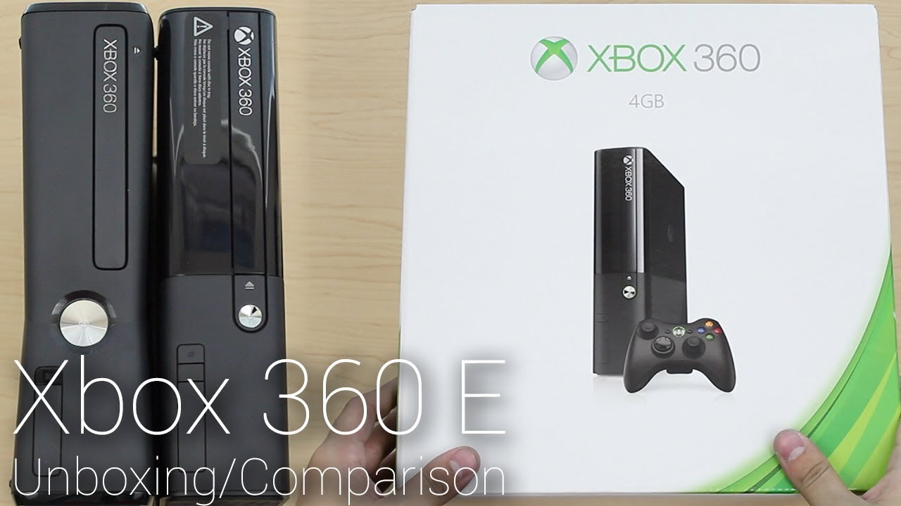 Xbox 360 Slim Vs Xbox 360 Elite New Xbox 360 E Unboxing