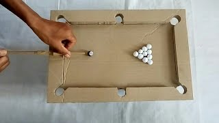 How To Build A Pool Table From Cardboard