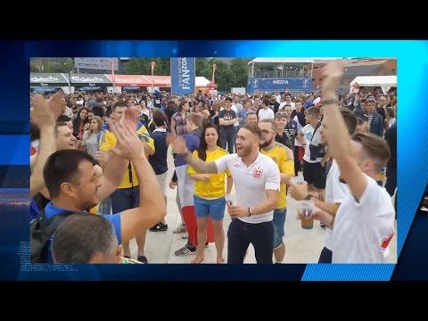 English and Ukrainian fans on EURO 2016, putin huilo! | Украинские и английские фаны, путин х*йло!