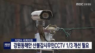 투/동해안 산불감시 무인 CCTV, 1/3 교체개선 필요