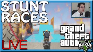 GTA 5 STUNT RACES LIVE - Trying Crazy Stunt Races!! (GTA V Online Funny Moments / Gameplay)