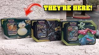*NEW TAG TEAM GX CARDS!* Opening ALL of the BRAND NEW Pokemon GX Tins!