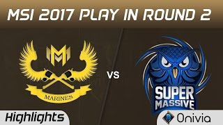 GAM vs SUP Highlights Game 1 MSI 2017 Play In Round 2 Gigabyte Marines vs SuperMassive by Onivia