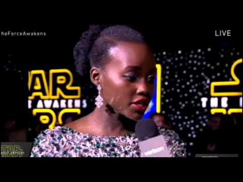Lupita Nyong'o Interview - Star Wars The Force Awakens Red Carpet
