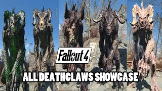 Fallout 4 - Deathclaws Showcase (All Variations)