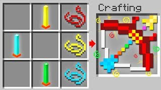 How to Craft 5 NEW Overpowered BOWS in Minecraft!