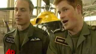 Princes William and Harry Talk Military Roles